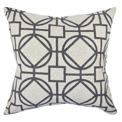 Circle Link Throw Pillow Size: 20 H x 20 W x 6 D, Color: Gray