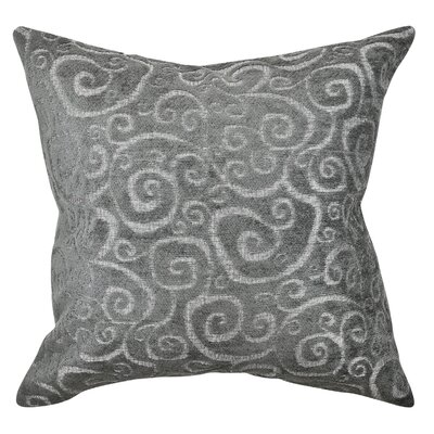 Scrolls Flocked Throw Pillow Size: 20 H x 20 W x 6 D