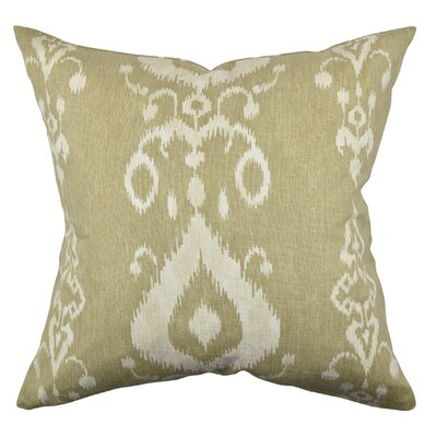Ikat Inspired Throw Pillow Size: 18 H x 18 W x 6 D, Color: Neutral