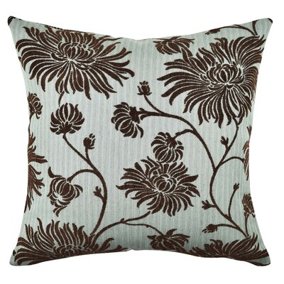 Floral Flocked Throw Pillow Size: 18 H x 18 W x 6 D