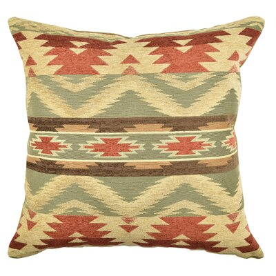 Aztec Inspired Warm Tones Throw Pillow Size: 18 H x 18 W x 6 D