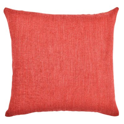 Chenille Throw Pillow Size: 20 H x 20 W x 6 D, Color: Warm Red