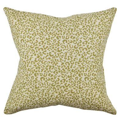 Animal Print Throw Pillow Size: 20 H x 20 W x 6 D, Color: Tan/Cream