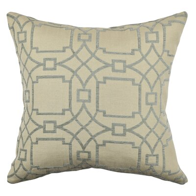 Circle Link Throw Pillow Size: 18 H x 18 W x 6 D, Color: Gray