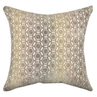 Circle Link Earth Tones Throw Pillow Size: 18 H x 18 W x 6 D