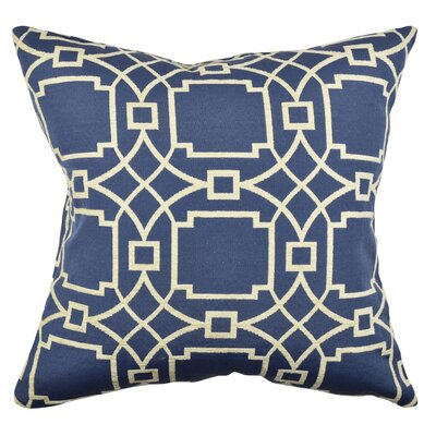 Circle Link Throw Pillow Size: 18 H x 18 W x 6 D, Color: Blue
