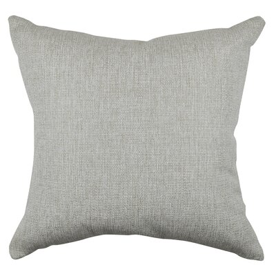 Chenille Throw Pillow Size: 20 H x 20 W x 6 D, Color: Off White