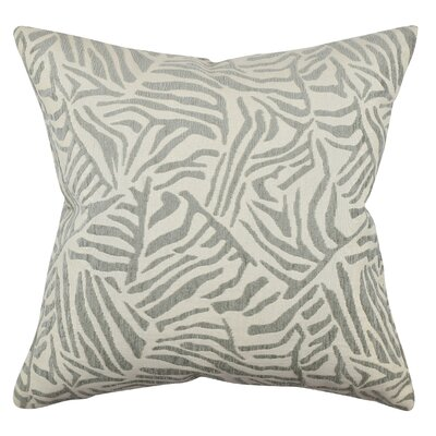 Zebra Throw Pillow Size: 18 H x 18 W x 6 D, Color: Gray