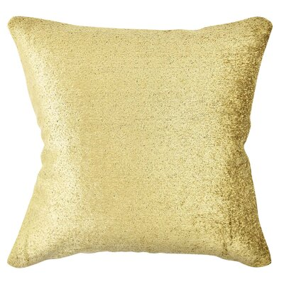 Terry Cloth Throw Pillow Size: 18 H x 18 W x 6 D, Color: Gold