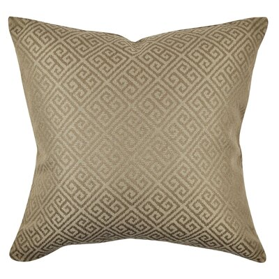 Greek Fret Throw Pillow Size: 20 H x 20 W x 6 D, Color: Brown