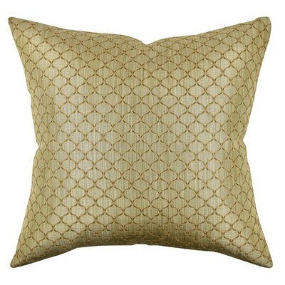 Lattice Woven Jacquard Throw Pillow Size: 18 H x 18 W x 6 D, Color: Brown