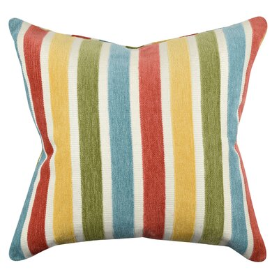 Stripe Flocked Throw Pillow Size: 18 H x 18 W x 6 D