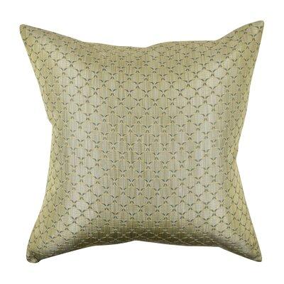 Lattice Woven Jacquard Throw Pillow Size: 18 H x 18 W x 6 D, Color: Gray