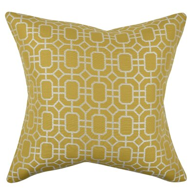 Geometric Honeycomb Throw Pillow Size: 20 H x 20 W x 6 D, Color: Yellow