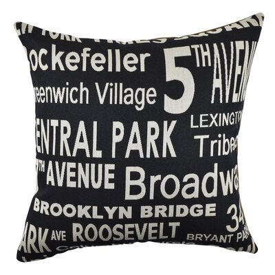 Urban New York Typography Throw Pillow Size: 20 H x 20 W x 6 D