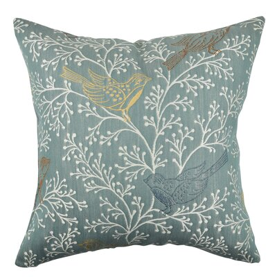 Delicate Birds and Branches Throw Pillow Size: 18 H x 18 W x 6 D