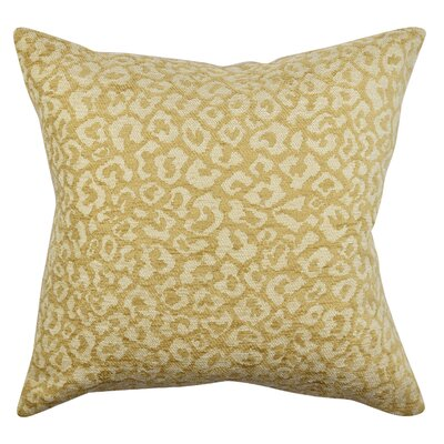 Abstract Animal Print Throw Pillow Size: 18 H x 18 W x 6 D, Color: Tan