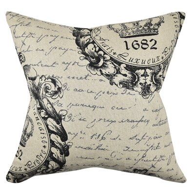 Mid-Century Seal and Letters Throw Pillow Size: 18 H x 18 W x 6 D