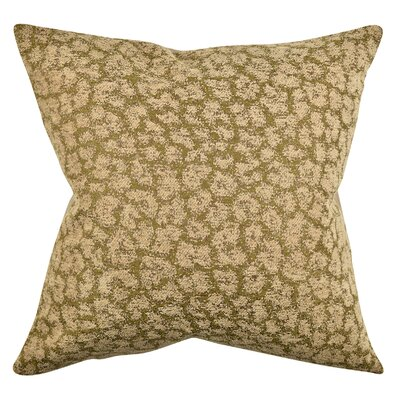 Abstract Animal Print Throw Pillow Size: 18 H x 18 W x 6 D, Color: Brown