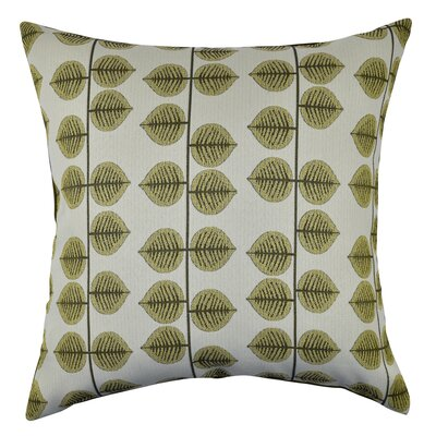 Leaf Stripes Throw Pillow Size: 18 H x 18 W x 6 D