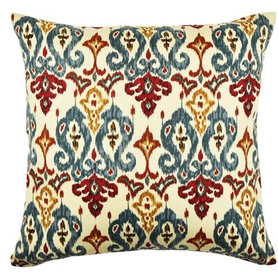 Damask Throw Pillow Size: 18 H x 18 W x 6 D, Color: Bold Tan/Red