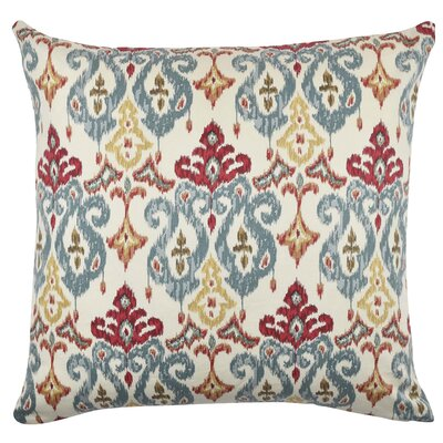 Damask Throw Pillow Size: 18 H x 18 W x 6 D, Color: Pastel Tan/Red