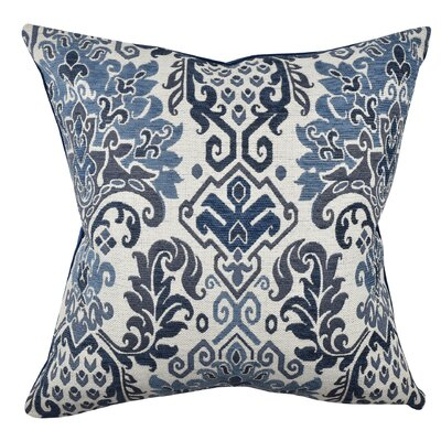 Damask Throw Pillow Size: 18 H x 18 W x 6 D, Color: Blue/Green