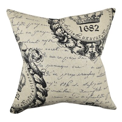 Mid-Century Seal and Letters Throw Pillow Size: 20 H x 20 W x 6 D