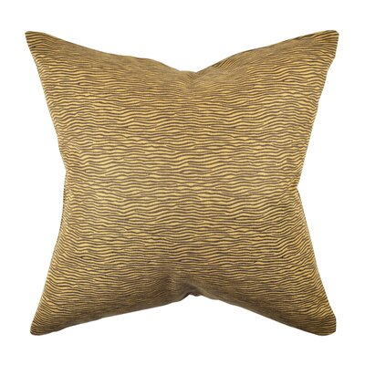Animal Print Throw Pillow Size: 18 H x 18 W x 6 D, Color: Brown