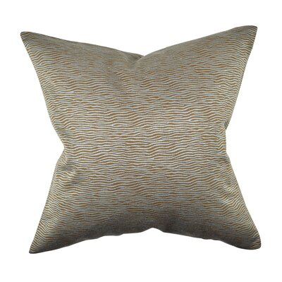Animal Print Throw Pillow Size: 18 H x 18 W x 6 D, Color: Teal