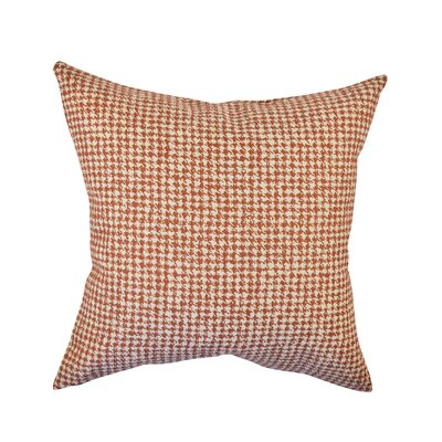 Houndstooth Woven Throw Pillow Size: 18 H x 18 W x 6 D, Color: Orange