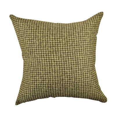 Houndstooth Woven Throw Pillow Size: 18 H x 18 W x 6 D, Color: Tan