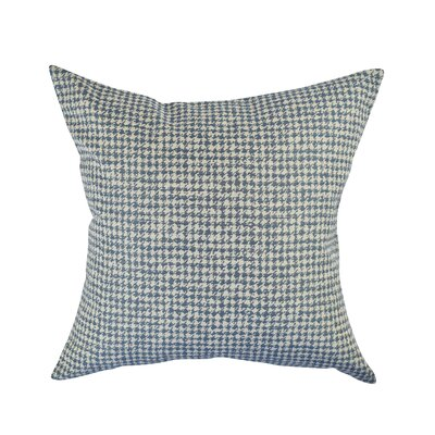 Houndstooth Woven Throw Pillow Size: 18 H x 18 W x 6 D, Color: Blue