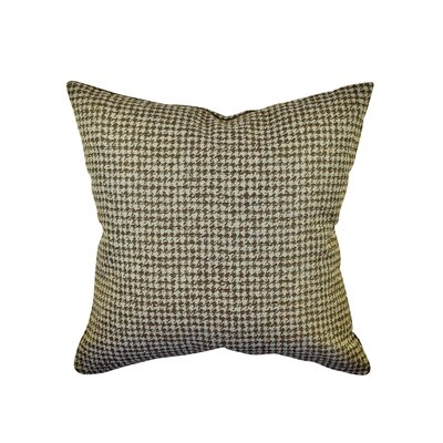 Houndstooth Woven Throw Pillow Size: 18 H x 18 W x 6 D, Color: Brown