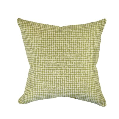 Houndstooth Woven Throw Pillow Size: 18 H x 18 W x 6 D, Color: Green