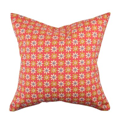 100% Cotton Throw Pillow Size: 18 H x 18 W x 6 D, Color: Pink