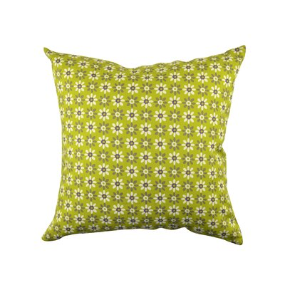 100% Cotton Throw Pillow Size: 18 H x 18 W x 6 D, Color: Green