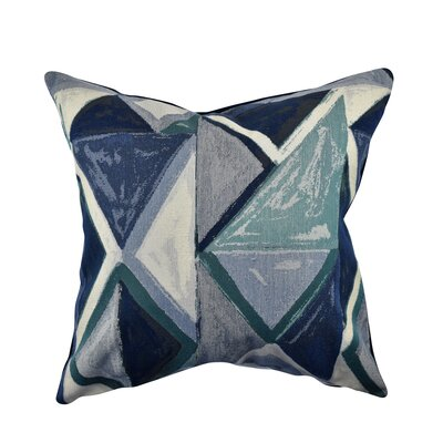 Modern Bold Throw Pillow Size: 20 H x 20 W x 6 D, Color: Blue