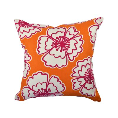 100% Cotton Throw Pillow Size: 18 H x 18 W x 6 D, Color: Orange