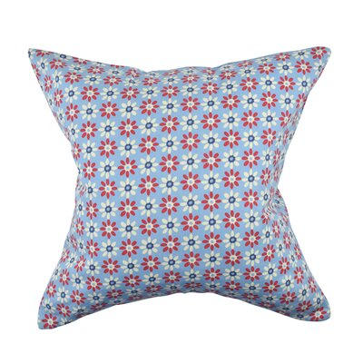 100% Cotton Throw Pillow Size: 18 H x 18 W x 6 D, Color: Blue