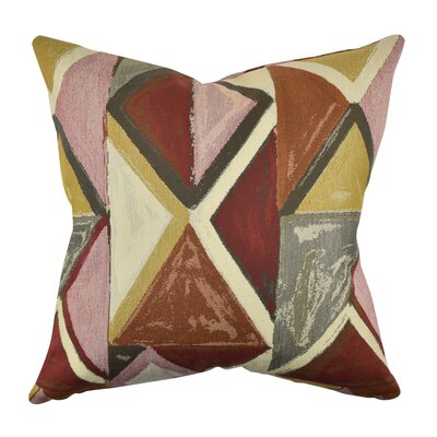 Modern Bold Throw Pillow Size: 18 H x 18 W x 6 D, Color: Red