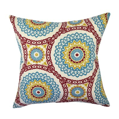 100% Cotton Throw Pillow Size: 18 H x 18 W x 6 D, Color: Blue