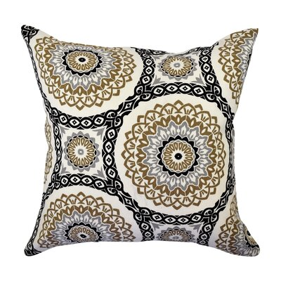 100% Cotton Throw Pillow Size: 18 H x 18 W x 6 D, Color: Tan