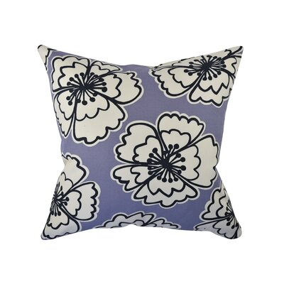 100% Cotton Throw Pillow Size: 18 H x 18 W x 6 D, Color: Purple