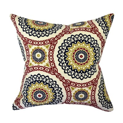 100% Cotton Throw Pillow Size: 20 H x 20 W x 6 D, Color: Red