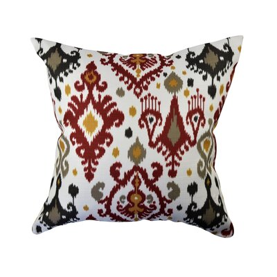 100% Cotton Throw Pillow Size: 18 H x 18 W x 6 D, Color: Red