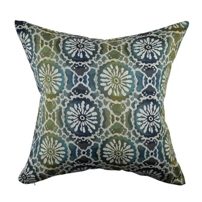 Floral Design Throw Pillow Size: 18