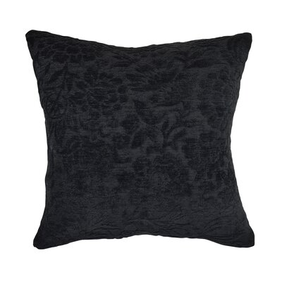 Throw Pillow Size: 20 H x 20 W x 6 D, Color: Black
