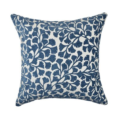 Throw Pillow Size: 18 H x 18 W x 6 D, Color: Blue