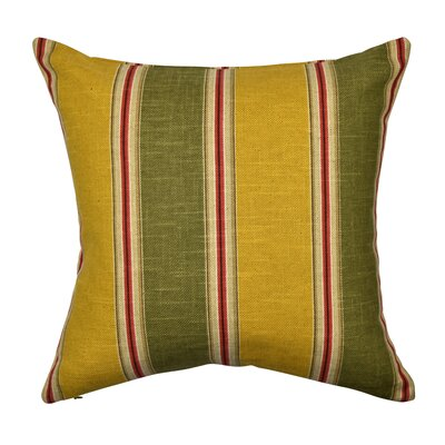 Designer 100% Cotton Throw Pillow Size: 20 H x 20 W, Color: Yellow
